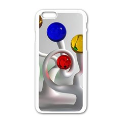 Colorful Glass Balls Apple iPhone 6/6S White Enamel Case