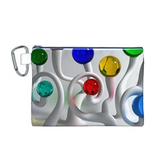 Colorful Glass Balls Canvas Cosmetic Bag (M)