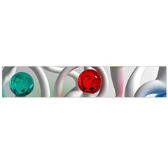 Colorful Glass Balls Flano Scarf (Large)
