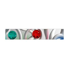 Colorful Glass Balls Flano Scarf (Mini)