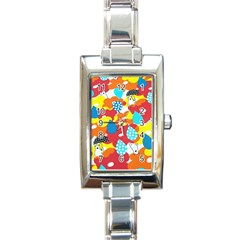 Bear Umbrella Rectangle Italian Charm Watch