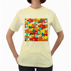 Bear Umbrella Women s Yellow T-Shirt