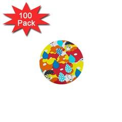 Bear Umbrella 1  Mini Buttons (100 pack)