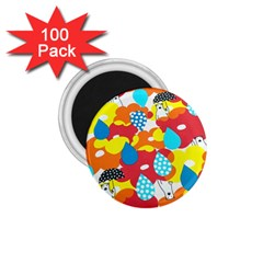 Bear Umbrella 1.75  Magnets (100 pack)