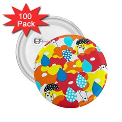 Bear Umbrella 2.25  Buttons (100 pack)