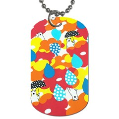 Bear Umbrella Dog Tag (One Side)