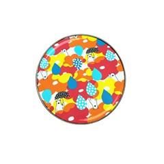 Bear Umbrella Hat Clip Ball Marker (10 pack)