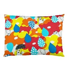 Bear Umbrella Pillow Case (two Sides)