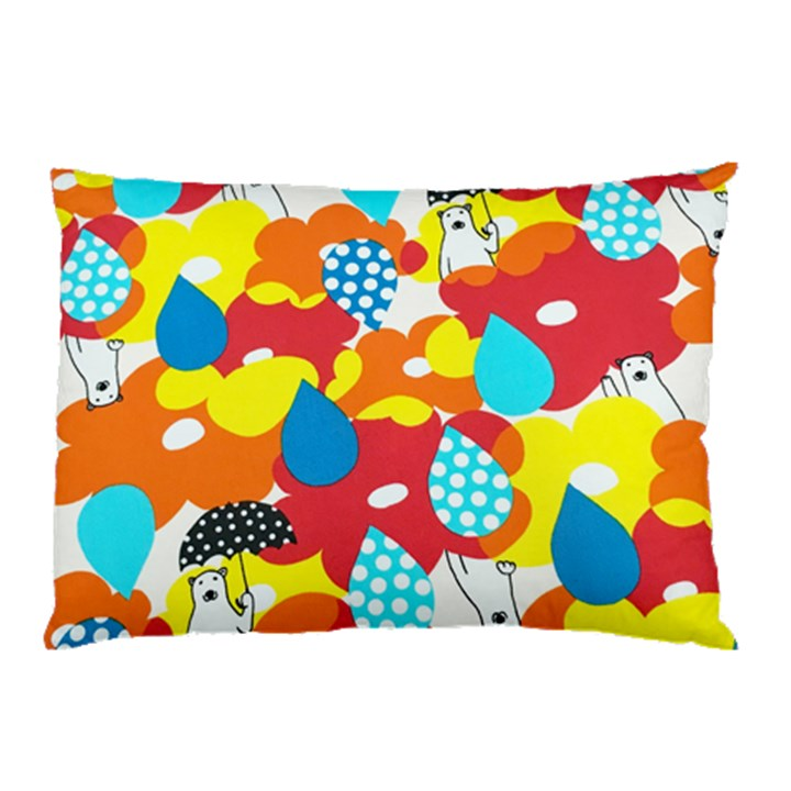 Bear Umbrella Pillow Case (Two Sides)