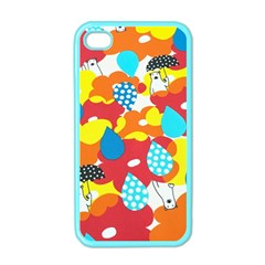 Bear Umbrella Apple Iphone 4 Case (color)