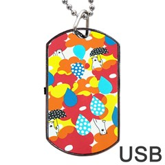 Bear Umbrella Dog Tag Usb Flash (one Side)