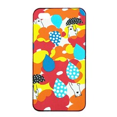 Bear Umbrella Apple Iphone 4/4s Seamless Case (black)