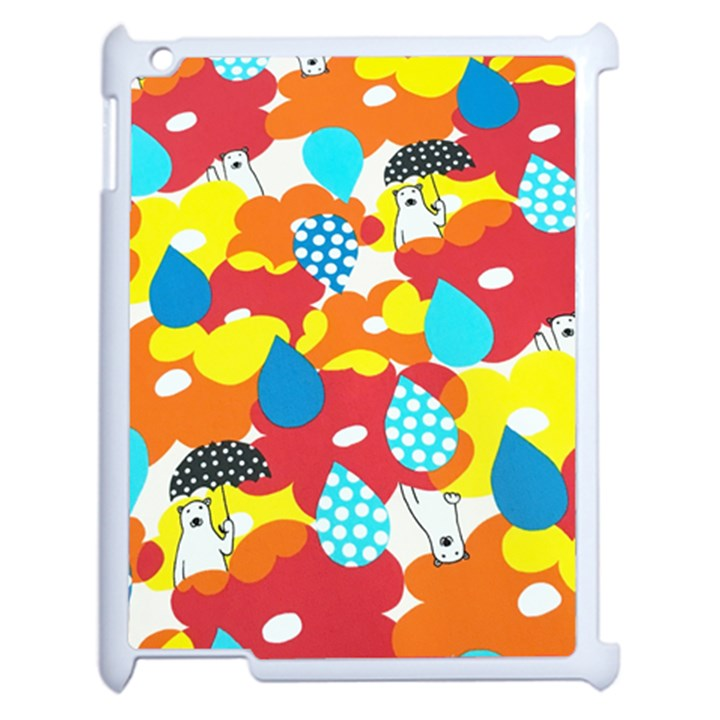 Bear Umbrella Apple iPad 2 Case (White)