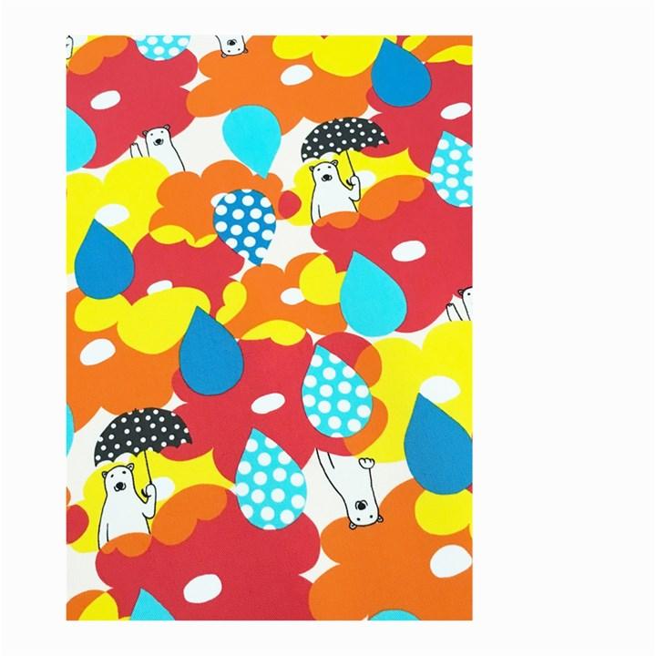 Bear Umbrella Small Garden Flag (Two Sides)