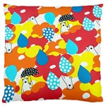 Bear Umbrella Large Cushion Case (Two Sides) Back