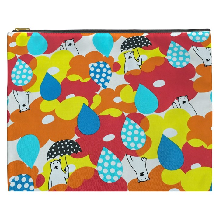 Bear Umbrella Cosmetic Bag (XXXL)