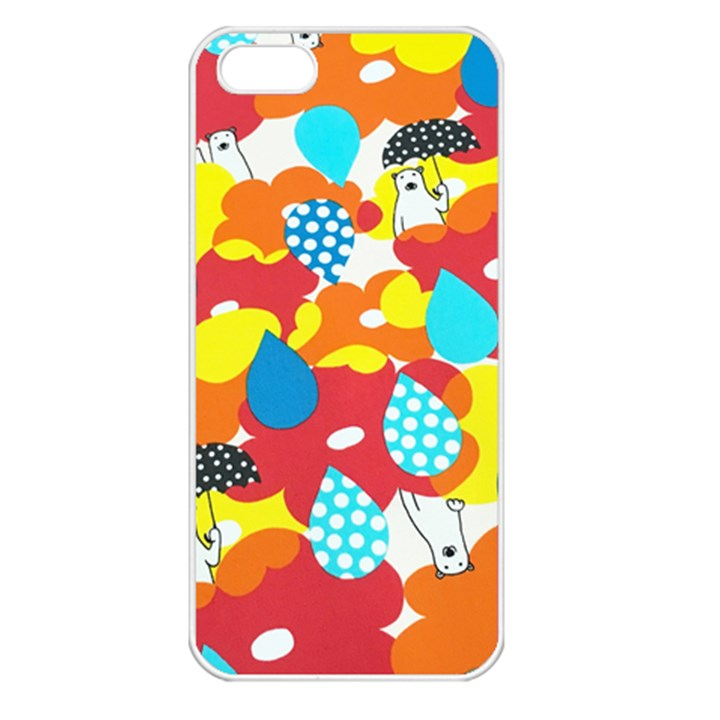 Bear Umbrella Apple iPhone 5 Seamless Case (White)