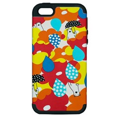 Bear Umbrella Apple iPhone 5 Hardshell Case (PC+Silicone)