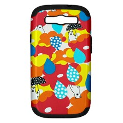 Bear Umbrella Samsung Galaxy S Iii Hardshell Case (pc+silicone)