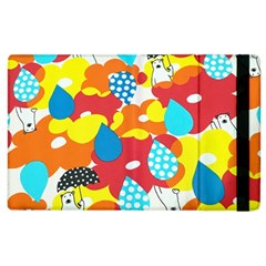 Bear Umbrella Apple iPad 3/4 Flip Case
