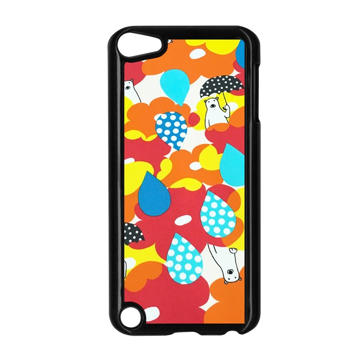 Bear Umbrella Apple iPod Touch 5 Case (Black)