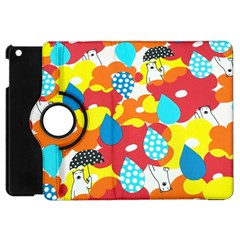 Bear Umbrella Apple iPad Mini Flip 360 Case