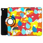 Bear Umbrella Apple iPad Mini Flip 360 Case Front