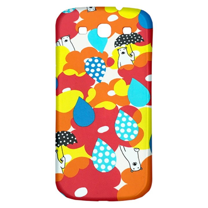 Bear Umbrella Samsung Galaxy S3 S III Classic Hardshell Back Case