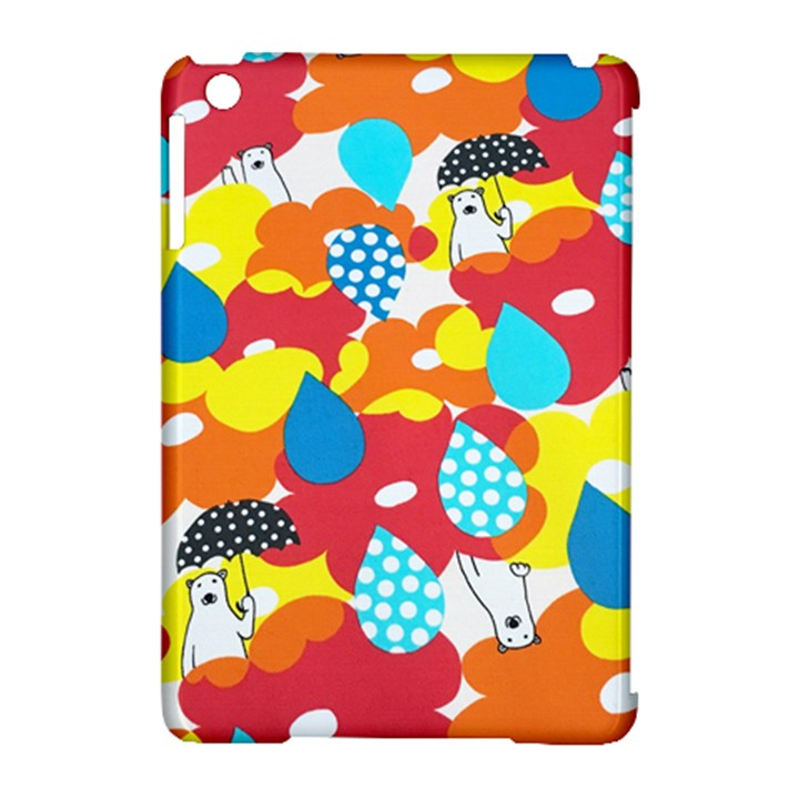 Bear Umbrella Apple iPad Mini Hardshell Case (Compatible with Smart Cover)