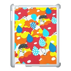 Bear Umbrella Apple iPad 3/4 Case (White)