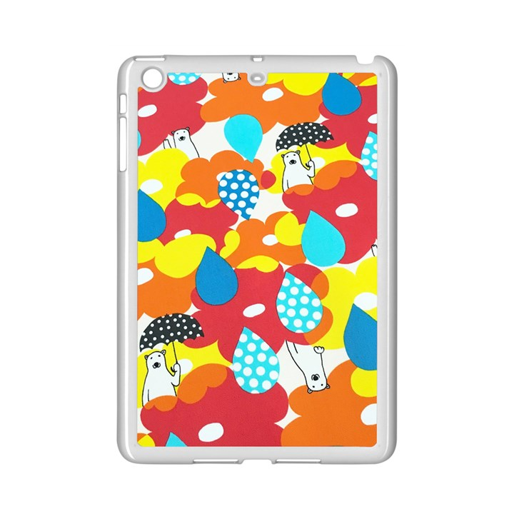Bear Umbrella iPad Mini 2 Enamel Coated Cases
