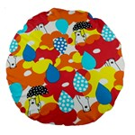 Bear Umbrella Large 18  Premium Round Cushions Back