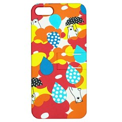 Bear Umbrella Apple Iphone 5 Hardshell Case With Stand