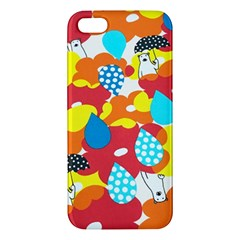 Bear Umbrella Apple Iphone 5 Premium Hardshell Case