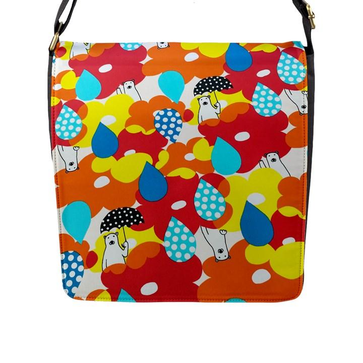 Bear Umbrella Flap Messenger Bag (L)