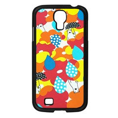 Bear Umbrella Samsung Galaxy S4 I9500/ I9505 Case (Black)