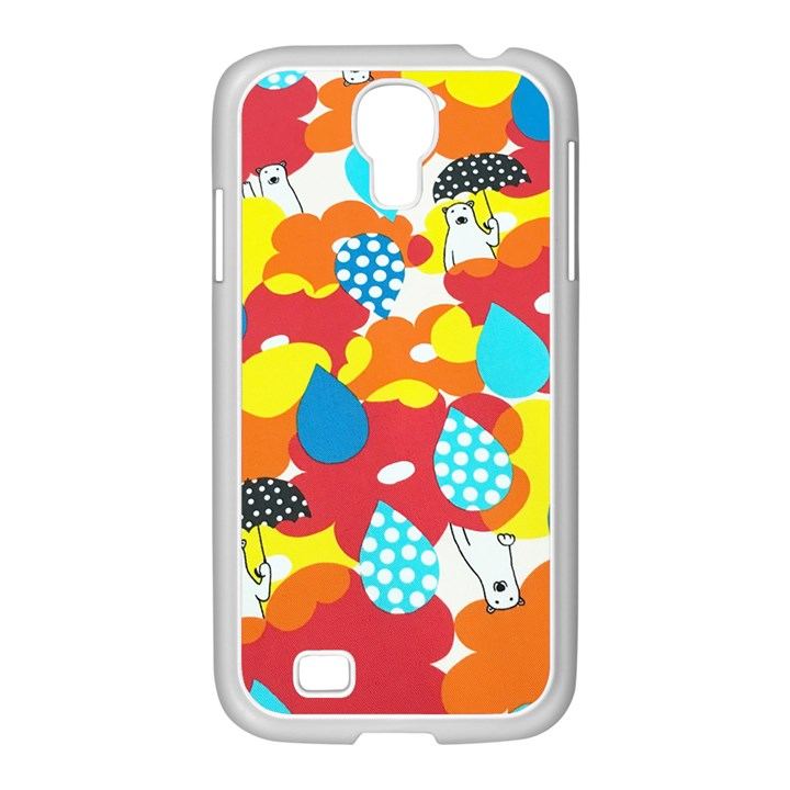 Bear Umbrella Samsung GALAXY S4 I9500/ I9505 Case (White)