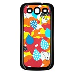 Bear Umbrella Samsung Galaxy S3 Back Case (Black) Front