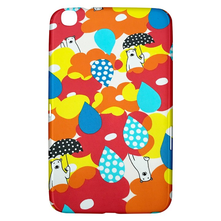 Bear Umbrella Samsung Galaxy Tab 3 (8 ) T3100 Hardshell Case