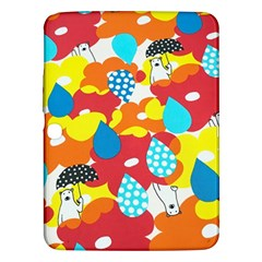 Bear Umbrella Samsung Galaxy Tab 3 (10.1 ) P5200 Hardshell Case