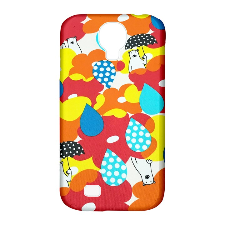 Bear Umbrella Samsung Galaxy S4 Classic Hardshell Case (PC+Silicone)
