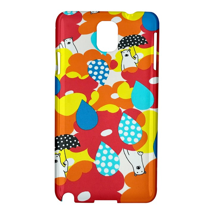 Bear Umbrella Samsung Galaxy Note 3 N9005 Hardshell Case