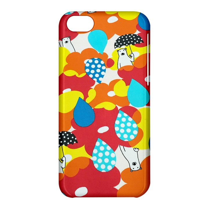 Bear Umbrella Apple iPhone 5C Hardshell Case
