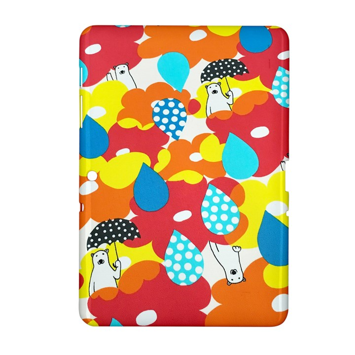 Bear Umbrella Samsung Galaxy Tab 2 (10.1 ) P5100 Hardshell Case