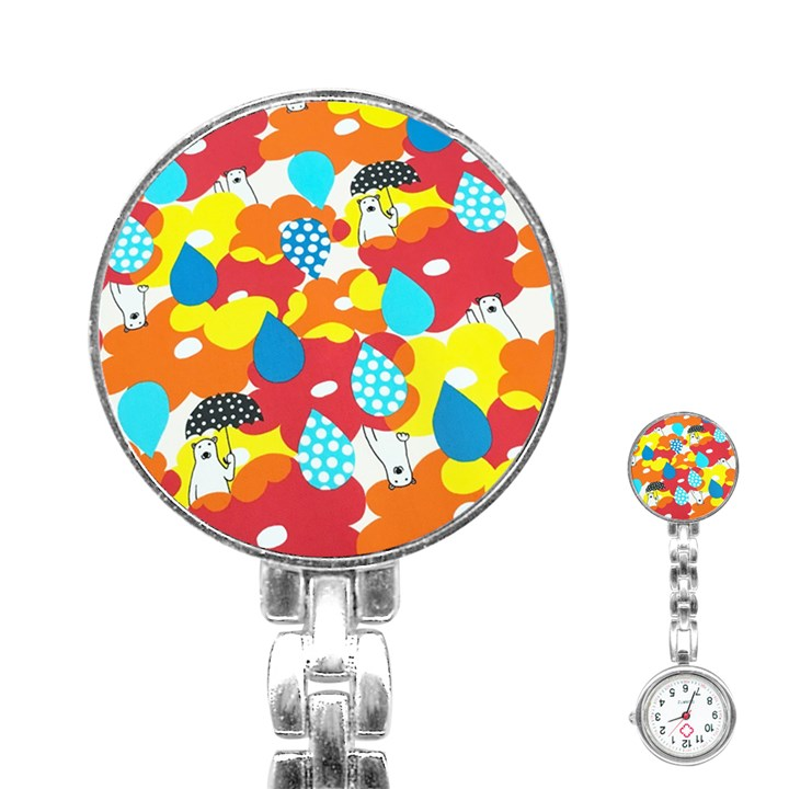Bear Umbrella Stainless Steel Nurses Watch