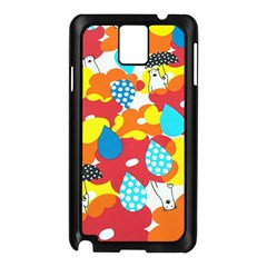 Bear Umbrella Samsung Galaxy Note 3 N9005 Case (black)