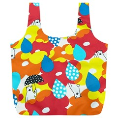 Bear Umbrella Full Print Recycle Bags (l)