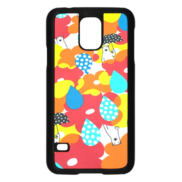 Bear Umbrella Samsung Galaxy S5 Case (Black)