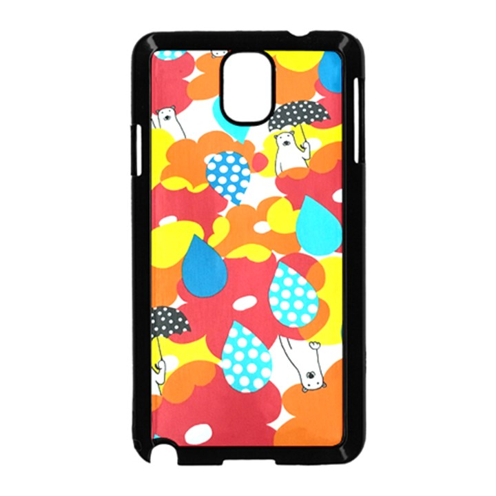 Bear Umbrella Samsung Galaxy Note 3 Neo Hardshell Case (Black)