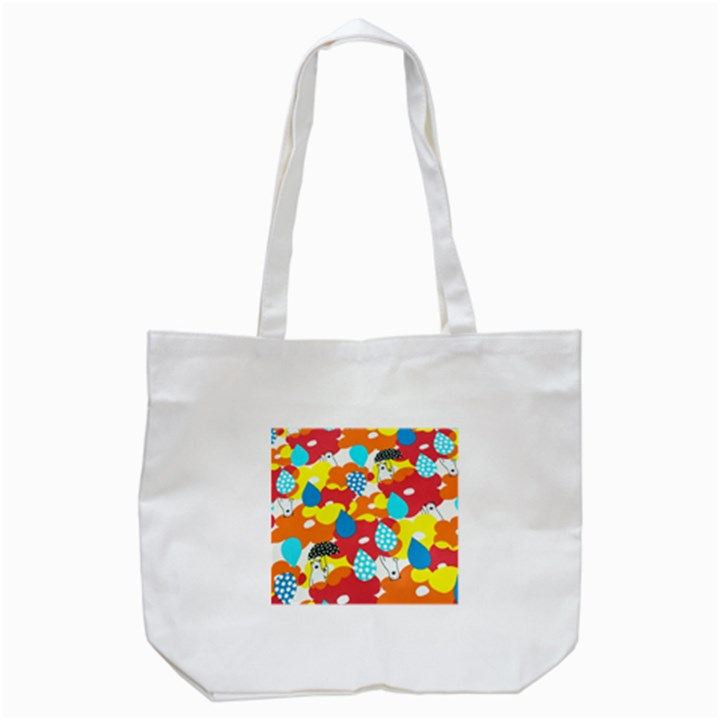 Bear Umbrella Tote Bag (White)